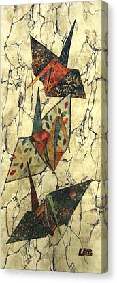 Origami Cranes Canvas Print by Lynda K Boardman