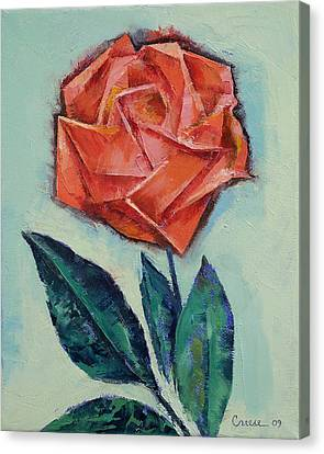 Day Canvas Print - Origami Rose by Michael Creese