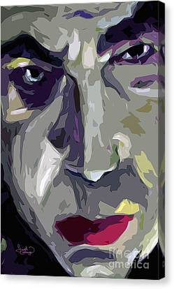 Original Abstract Art Bela Lugosi Dracula Canvas Print by Ginette Callaway