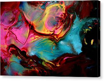 Original Abstract-escape Into Space  Canvas Print by Serg Wiaderny