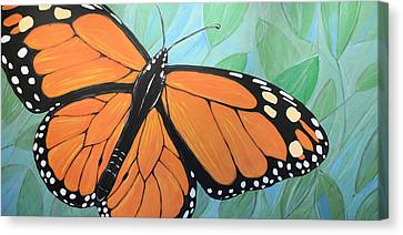 Canvas Print featuring the painting Original Abstract Painting Butterfly Print ... Monarch by Amy Giacomelli