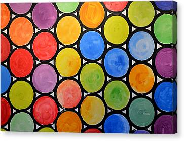 Canvas Print featuring the painting Original Abstract Painting Circles Print ... Watercolor Windows by Amy Giacomelli