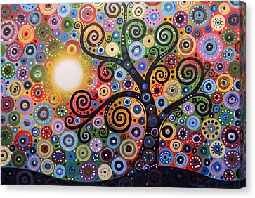 Canvas Print featuring the painting Original Abstract Tree Landscape Painting ... Memory Of Magic by Amy Giacomelli