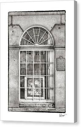 Original Art For Sale In Black And White Canvas Print by Brenda Bryant