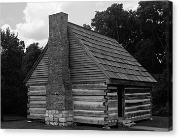 Canvas Print featuring the photograph Original Cabin Of President Andrew Jackson by Robert Hebert