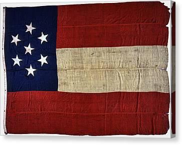 Original Stars And Bars Confederate Civil War Flag Canvas Print by Daniel Hagerman