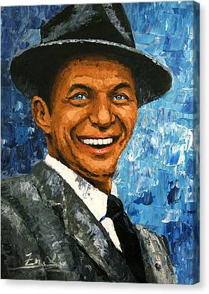 original contemporary painting Frank Sinatra Canvas Print by Enxu Zhou