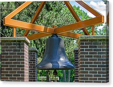 Canvas Print featuring the photograph Original Fire Bell From The Superior Fire Dept In Wisconsin  1892  by Susan  McMenamin