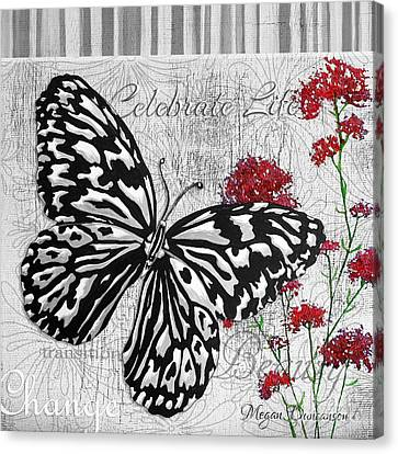 Original Inspirational Uplifting Butterfly Painting Celebrate Life Canvas Print by Megan Duncanson