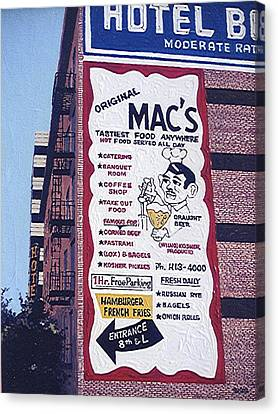 Original Mac's Canvas Print by Paul Guyer