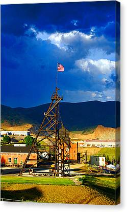 Canvas Print featuring the photograph Original Mine Yard by Kevin Bone