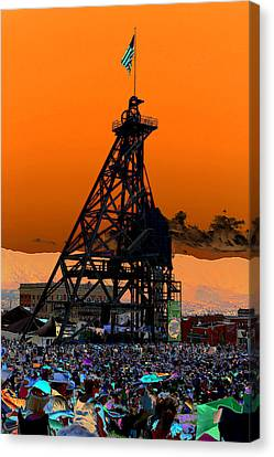 Canvas Print featuring the photograph Original Mine Yard Montana Folk Festival 2013 by Kevin Bone