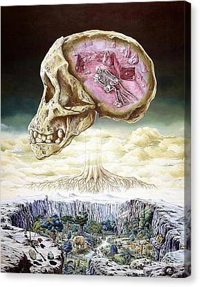 Origins Of Life Canvas Print by Publiphoto