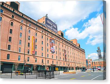 Oriole Park And Camden Yards Canvas Print by Bill Cannon