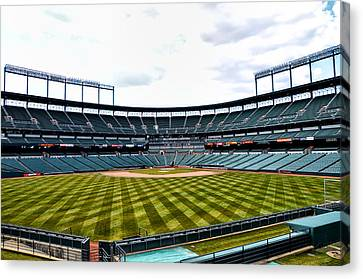 Oriole Park At Camden Yards Canvas Print by Bill Cannon