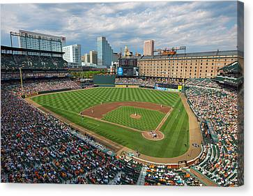 Oriole Park At Camden Yards Canvas Print by Mark Whitt