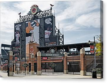Oriole Park At Camden Yards Canvas Print by Susan Candelario