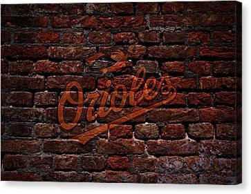 Centerfield Canvas Print - Orioles Baseball Graffiti On Brick  by Movie Poster Prints