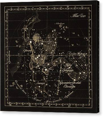 Orion Constellations, 1829 Canvas Print by Science Photo Library