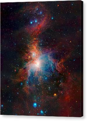 Orion Nebula From Vista Telescope Eso In Chile Canvas Print by L Brown