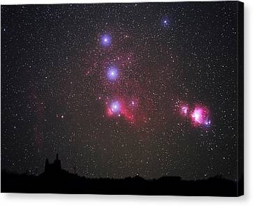 Orion Nebulae From The Canary Islands Canvas Print by Babak Tafreshi