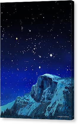 Orion Over Halfdome Canvas Print