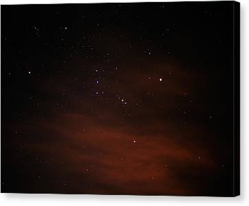 Orion With His Feet In The Clouds Canvas Print