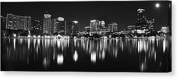 Orlando Black And White Panorama Canvas Print by Frozen in Time Fine Art Photography