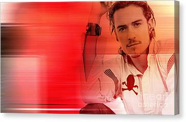 Orlando Bloom Canvas Print by Marvin Blaine