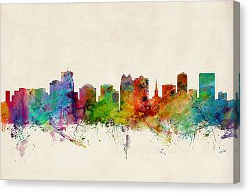 Orlando Florida Skyline Canvas Print by Michael Tompsett