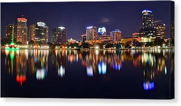 Orlando Panoramic View Canvas Print by Frozen in Time Fine Art Photography