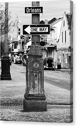Interior Scene Canvas Print - Orleans One Way by John Rizzuto
