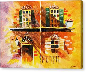 Canvas Print featuring the painting Orleans Vignette by Al Brown