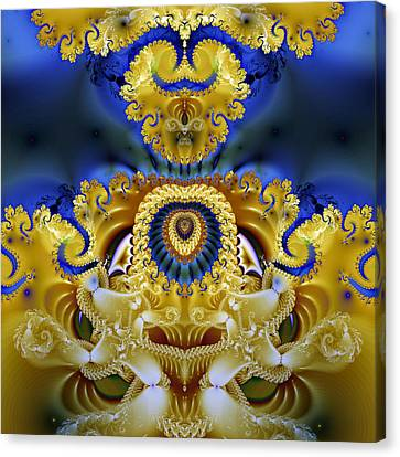Ornamental Fountain - A Fractal Design Canvas Print by Gina Lee Manley