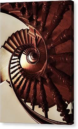 Ornamented Spiral Staircase Canvas Print by Jaroslaw Blaminsky