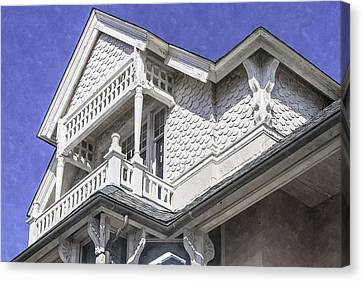 Ornate Balcony With View Canvas Print by Lynn Palmer