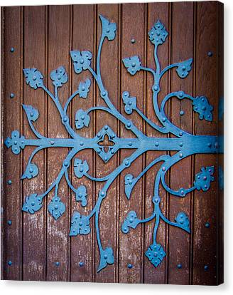 Ornate Church Door Hinge Canvas Print by Mr Doomits