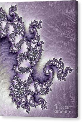Ornate Lavender Fractal Abstract Two Canvas Print by Heidi Smith