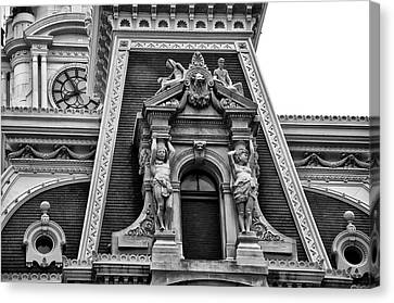 Cityhall Canvas Print - Ornate Window - Philadelphia City Hall by Bill Cannon