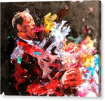 Ornette Coleman Canvas Print by Massimo Chioccia and Olga Tsarkova