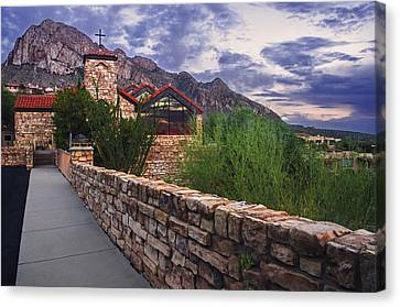 Oro Valley United Church Of Christ Canvas Print by Dave Dilli