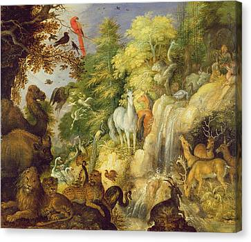 Orpheus With Birds And Beasts, 1622 Canvas Print