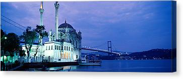 Ortakoy Mosque, Istanbul, Turkey Canvas Print by Panoramic Images