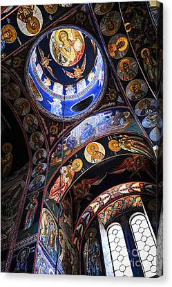 Christian Canvas Print - Orthodox Church Interior by Elena Elisseeva