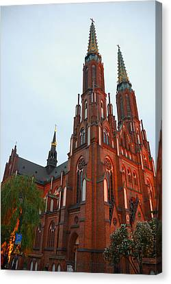 Canvas Print featuring the photograph St. Florian's Cathedral by Steven Richman