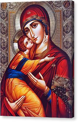 Orthodox Mary And Jesus Canvas Print by Munir Alawi