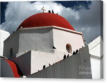 Orthodox Red Dome Canvas Print by John Rizzuto