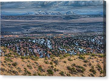 Ortiz Mountains Canvas Print by Britt Runyon