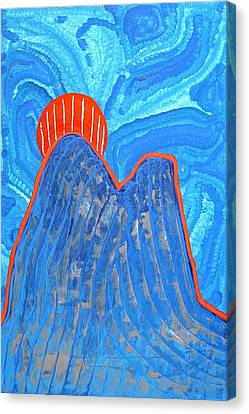 Os Dois Irmaos Original Painting Sold Canvas Print by Sol Luckman