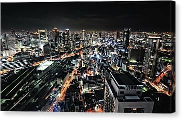 Osaka Night View Canvas Print